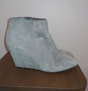 Women's Via Spiga Covered Wedge Bootie Leather